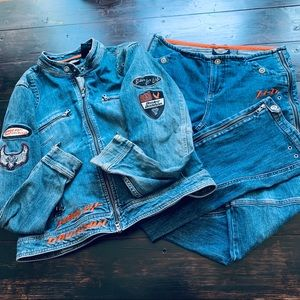 Harley Davidson | Denim Jacket & Jeans Set